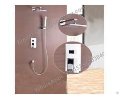 Manufacturer Concealed Shower Mixer With Diverter And Brass Spout