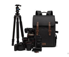 Dslr Backpack Canon Nikon Sony Camera Case With Rain Cover And Tripod Mount