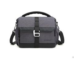 Dslr Camera Compact Gadget Bag With Adjustable Compartment Shoulder Strap
