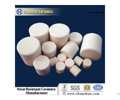 Manufacture Alumina Ceramic Cylinder Bonded In Rubber As Wear Resistant Panel