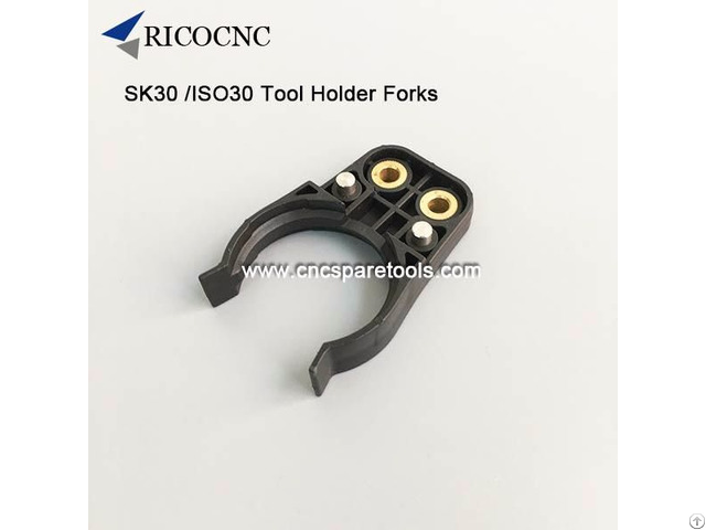 Black Iso30 Tool Clips Din69871 Sk30 Toolgrippers For Atc Hsd Spindle