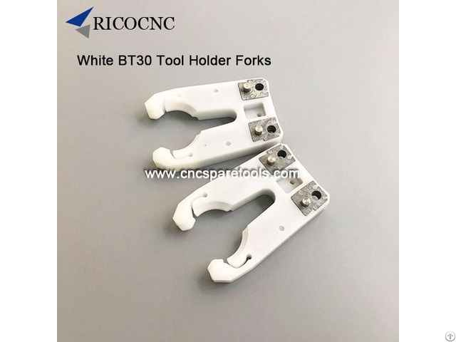 White Bt30 Tool Changer Grippers Toolholder Clips