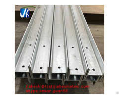 Structural Carbon Steel Galvanized Universal I H Shape Column Beam For Solar Mounting