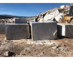 Silver Grey Marble Block