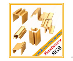 Copper Alloy Solid Window And Door Frame Brass Extrusions Profiles Sections