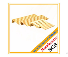 Leaded Copper Alloy Brass Extrusion Profiles Of Floor Stair Nosing