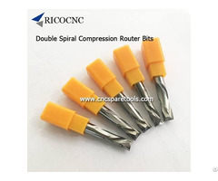 Carbide Compression Router Bits Double Spiralbits For Mdf Laminate Carving