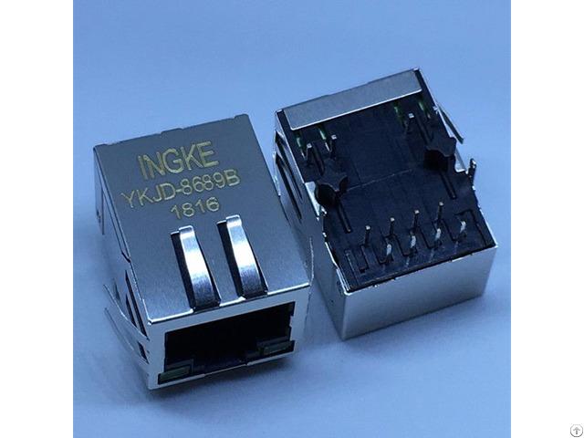 Ingke Ykjd 8689b 100% Cross 7499011222a We Rj45lan Rj45 Jacks With Integrated Magnetics