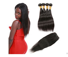 8a Brazilian Straight 4 Bundles 100 Percent Human Virgin Hair Weave Hairvilla