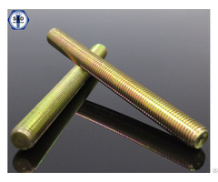 Astm A193 B7 B7m Threaded Rods Yellow Zinc Plated