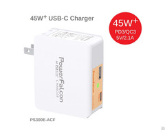Powerfalcon 45w Pd Dual Port Type C Usb A Charger Us