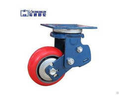 Double Spring Pu Damping Rubber Shock Absorption Caster