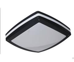 Moisture Proof Bulkhead Wall Light Square Shape Surface Mounted Black Aluminum