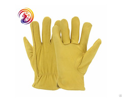 Handing Workshop Leather Sheepskin Goatskin Driver Gloves For Driving