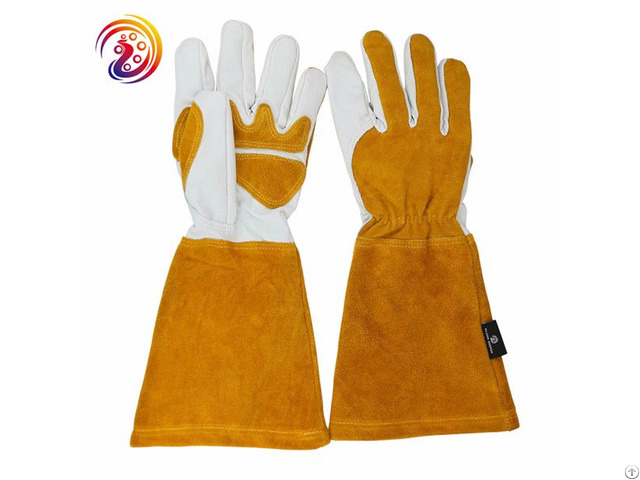 Cowhide Split Leather Back Cotton Mig Lining Welding Gloves