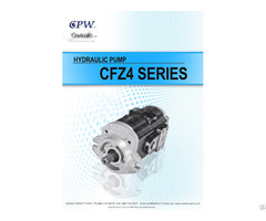 Cosmic Forklift Parts On Sale 336 Cpw Hydraulic Pump Cfz4 Series Catalogue Size