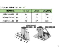 Stanchion Socket Boat Accessories Groundhog Marine Hardware