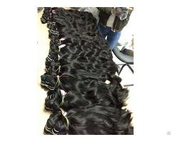 Vietnam Hair Machine Weft #1b Natural Wavy 20''