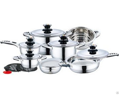 16pcs Cheap Price Stainless Steel Cookware Set With Bakelite Mix Handle