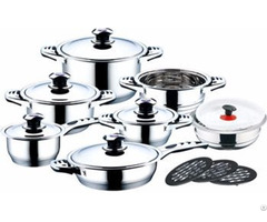 Stainless Steel Cookware Set With Thermometer