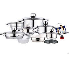 Straight Shape Stainless Steel Cookware Set With Strong Revit Handle