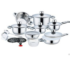 Stainless Steel Cookware Set With Ceramic Coating