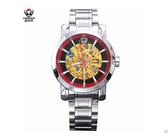 Xinboqin Mens Mechanical Automatic Skeleton Water Resistant Watches Wholesale