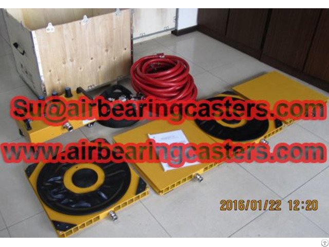 Air Bearing And Casters Can Be Used At Various Points Under A Load