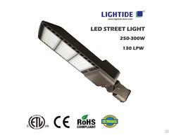 Etl Ce Rohs Certified Slim Led Street Lights 300w 150 Lpw