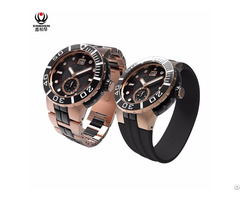 Xinboqin Factory Custom Stainless Steel Big Dial Waterproof 10atm Men Watches
