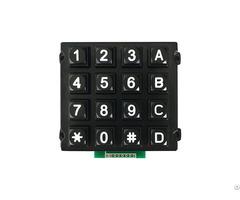 Rugged 16 Keys 4x4 Matrix Array Zinc Alloy Access Control Systom Keypad