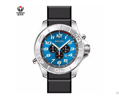 Xinboqin Mens Water Proof 10atm Silicon Luxury Brand High Quality Watch Custom Logo