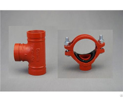 Grooved Pipe Coupling And Fitting Mechanical Tee