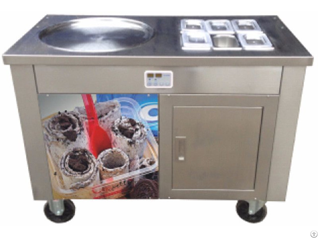 New Designed Thailand Rolled Ice Cream Machine With Sigle Pan Six Holes