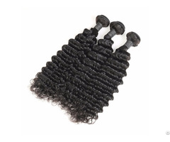 9a Brazilian Deep Wave 3 Bundles Human Virgin Hair Weave