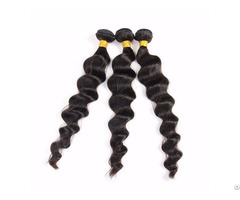8a Peruvian Loose Wave 3 Bundles Human Virgin Hair Weave