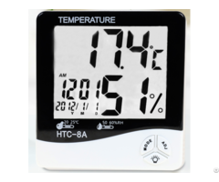Digital Humidity Temperature Meter With Date And Time Clock Thermometer Hygrometer