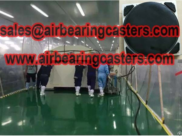 Air Bearing Casters Application With Instruction
