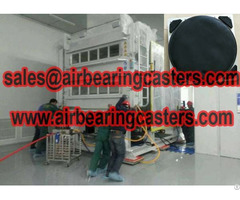 Air Moving Casters 60 Tons Capacity Equipment