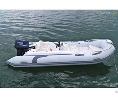 Lianya 4 3m Fiberglass Hull Inflatable Rubber Boat With Out Board Motor