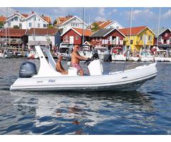 Lianya 5 8m Luxury Fiberglass Hull Speed Inflatable Rib Boat R
