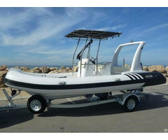 Lianya 6 2m High Speed Fiberglass Hull Resuce Rib Boat