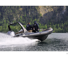 Lianya 6 6m Fiberglass Hull Inflatable Rib Rescue Boat With Outboard Engine