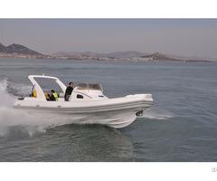 Lianya 8 3m Luxury Fiberglass Rib Yacht For Sale