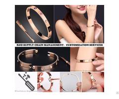 Love Screwdriver Titanium Steel Bracelet