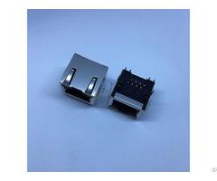 Te 406549 5 1 Port Through Hole Rj45 Jack Modular Connector 8p8c