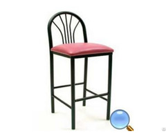 Environmental Standard Metal Frame Bar Stool Round Steel Tube With Sponge