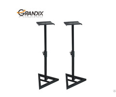 Product 2 Pcs Speaker Home Audio Adjustable Monitor Triangle Pair Steel Stands