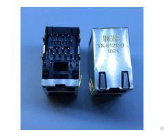 Rjsae 5381 021 Yk 812129 2 Port Rj45 Without Magnetics 8p8c