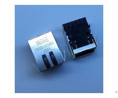 Hfj11 Lghrpe L21rl 1 Port Gigabit Tab Down Poe Rj45 Magnetic Modular Jacks